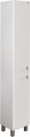 Шкаф-пенал для ванной Гамма 50.03 оФ2 (белый, левый) -