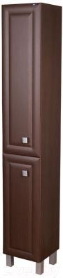 Шкаф-пенал для ванной Гамма 50.03 оФ2 (древоподобный, филенка, левый)