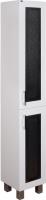Шкаф-пенал для ванной Гамма 50.03 ОФ2 (черные вставки, правый) -