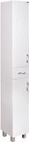 Шкаф-пенал для ванной Гамма 51.25 ОФ2 (волна, с ящиком, левый) -