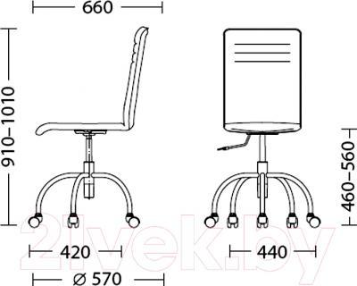 Кресло офисное Nowy Styl Roller GTS (FJ-6) - размеры