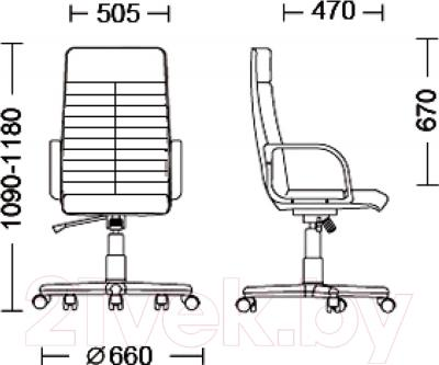 Кресло офисное Nowy Styl Atlant Tilt (SP-A) - размеры