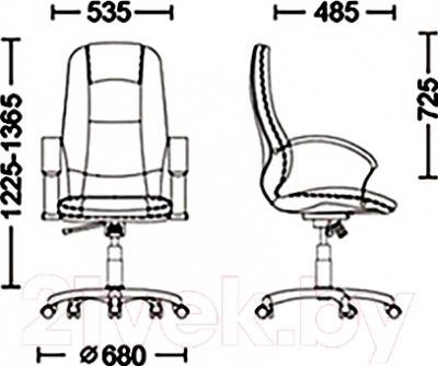 Кресло офисное Новый Стиль Formula Steel Chrome (LE-E) - размеры