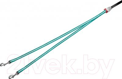 Сворка Flexi Vario Duo Belt FLX404 (S, бирюзовый)