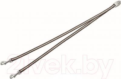 Сворка Flexi Vario Duo Belt FLX405 (S, коричневый)