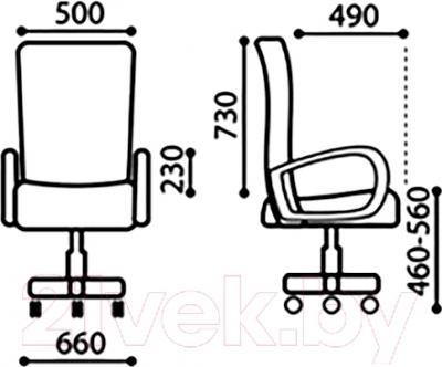 Кресло офисное Nowy Styl Orion Steel Chrome (LE-G) - размеры