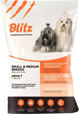 Корм для собак Blitz Adult Medium&Small Breed (13кг)