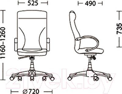Кресло офисное Nowy Styl Riga (ECO-31) - размеры
