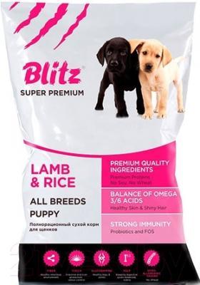 Корм для собак Blitz Puppy Lamb&RIice (15кг)