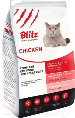 Корм для кошек Blitz Adult Cats Chiken (2кг)