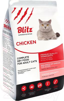 Корм для кошек Blitz Adults Cats Chiken (10кг)