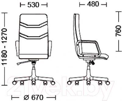 Кресло офисное Новый Стиль Senator Extra (LE-F 1.031) - размеры