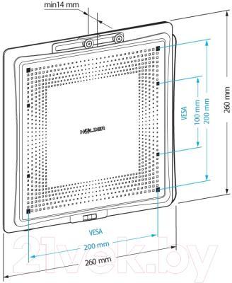 Кронштейн для телевизора Holder LCD-F2801М-B - схема, габариты