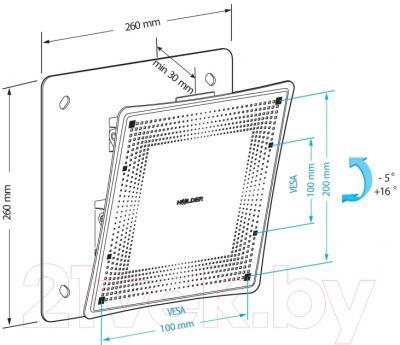 Кронштейн для телевизора Holder LCD-T2802М-B - схема, габариты