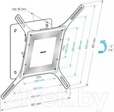 Кронштейн для телевизора Holder LCD-T4802М-B - схема, габариты