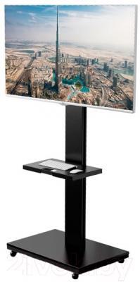 Стойка для ТВ/аппаратуры Holder PR-106 (черный) - стойка с телевизором