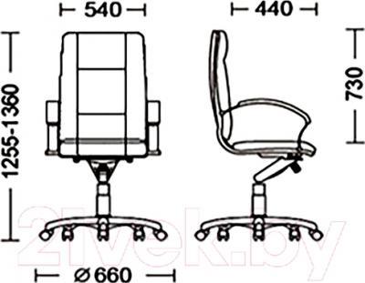 Кресло офисное Новый Стиль Star Steel Chrome (LE-A) - размеры