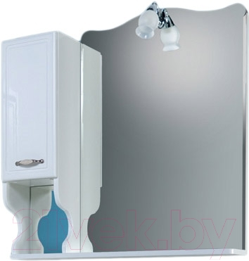 Шкаф с зеркалом для ванной Asomare Кантри 90 (34.03-01)