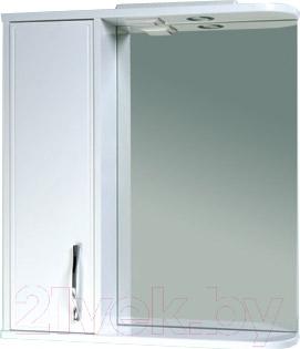 Шкаф с зеркалом для ванной Asomare Сильвер 70 (39.09-01)