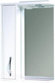 Шкаф с зеркалом для ванной Asomare Сильвер 50 (39.13-01)