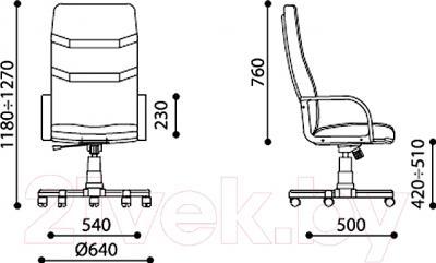 Кресло офисное Новый Стиль Minister Extra (LE-A 1.031) - размеры