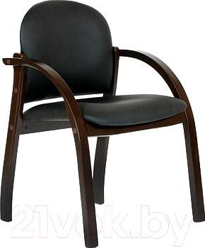 Кресло офисное Chairman 659 PU2001-12 (черный матовый/темный орех)