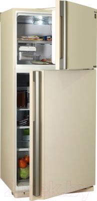 Холодильник с морозильником Sharp SJ-XE55PMBE