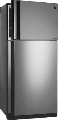 Холодильник с морозильником Sharp SJ-XE55PMSL