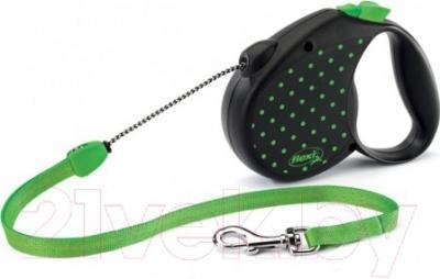 Поводок-рулетка Flexi Color Dots FLX443 (M, зеленый)