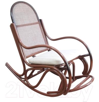 Кресло-качалка Черниговская  фабрика лозовых изделий Бриз №1 (медовый, с подушкой)