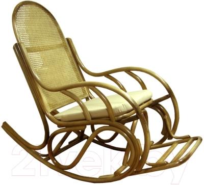 Кресло-качалка Черниговская  фабрика лозовых изделий Бриз №1 (натуральный, с подушкой)