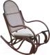 Кресло-качалка Черниговская  фабрика лозовых изделий Бриз (орех, с подушкой) -