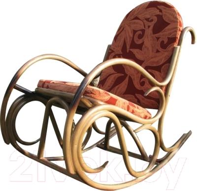 Кресло-качалка Черниговская  фабрика лозовых изделий Олимп (медовый, с подушкой)