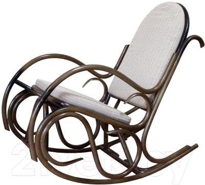 Кресло-качалка Черниговская  фабрика лозовых изделий Олимп (орех, с подушкой)