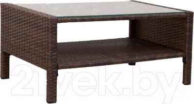 Журнальный столик Седия Ibiza (сталь/коричневый)