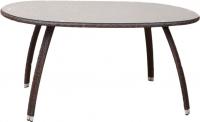 Обеденный стол Седия Leon (сталь/коричневый) -