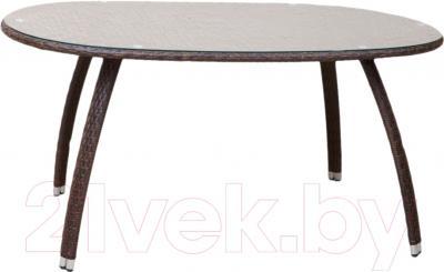 Обеденный стол Седия Leon (сталь/коричневый)