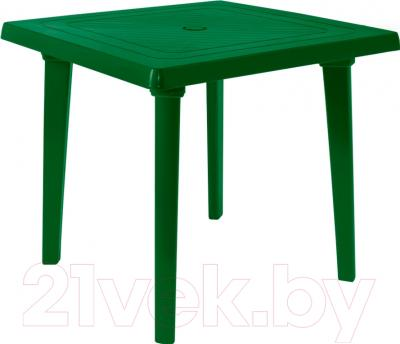 Стол садовый Алеана Квадратный 80x80 (зеленый)