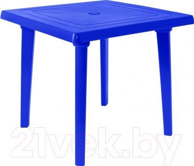 Стол пластиковый Алеана Квадратный 80x80 (темно-синий)