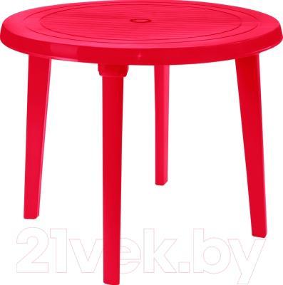 Стол пластиковый Алеана Круглый D90 (вишневый)