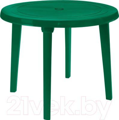Стол садовый Алеана Круглый D90 (зеленый)