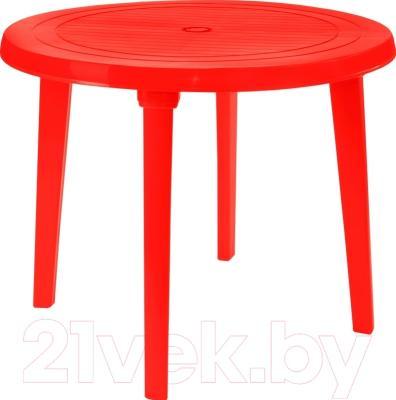Стол пластиковый Алеана Круглый D90 (красный)