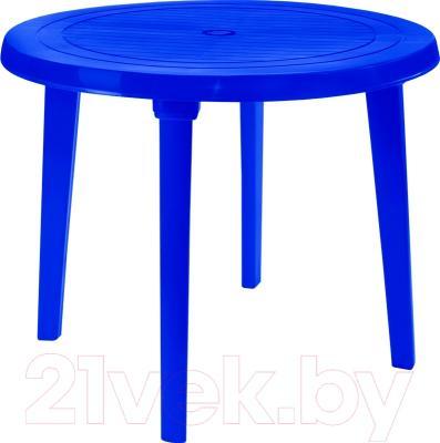 Стол пластиковый Алеана Круглый D90 (темно-синий)