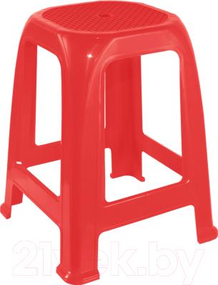 Табурет пластиковый Алеана Пиф (красный)