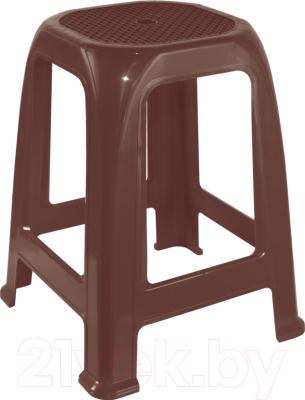 Табурет пластиковый Алеана Пиф (темно-коричневый)
