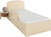 Односпальная кровать Meblik 173 Bed 90x190 (ваниль) -