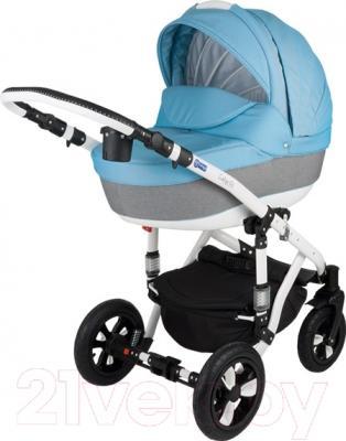 Детская универсальная коляска Adamex Galactic (джинс)