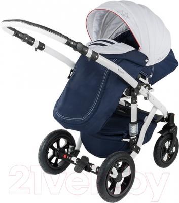 Детская универсальная коляска Adamex Galactic (джинс) - прогулочный блок на примере модели другого цвета