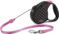 Поводок-рулетка Flexi Color Dots FLX441 (S, розовый) -