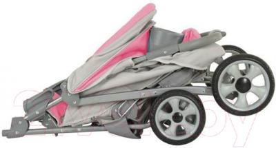 Детская прогулочная коляска Adamex Imola (бежевый) - в сложенном виде на примере модели другого цвета